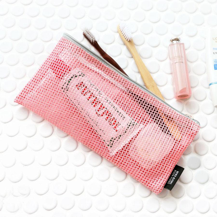 Iconic Mesh Slim Pouch V 2 Travel Toothbrush Bag