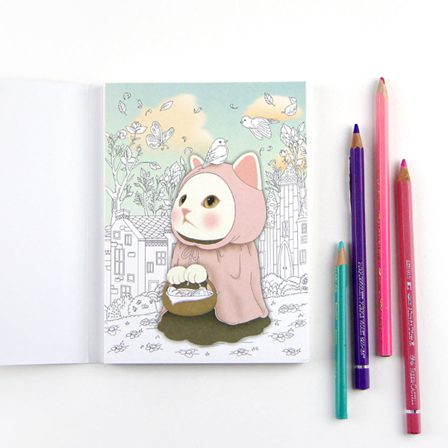 Colorful JETOY Coloring Postcards