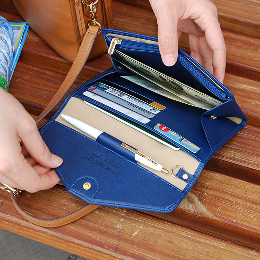Plepic Layered Pass Clutch Travel Wallet