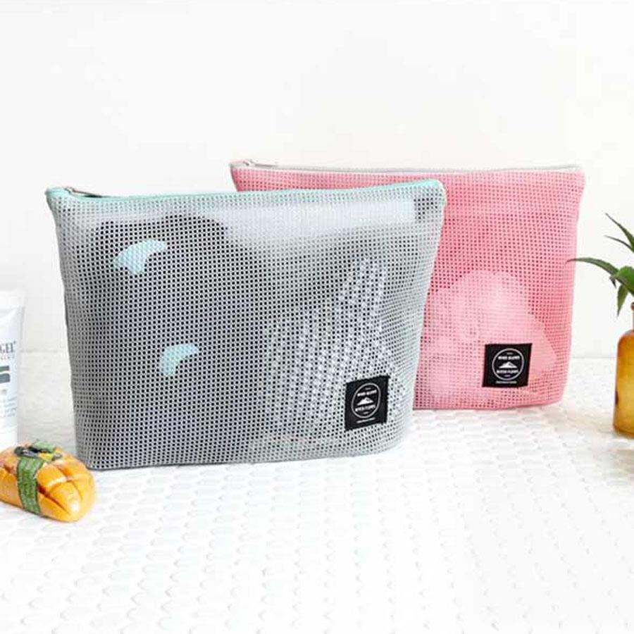 Iconic Mesh Multi Pouch L Travel Toiletry Organizer Bath Beach Bag