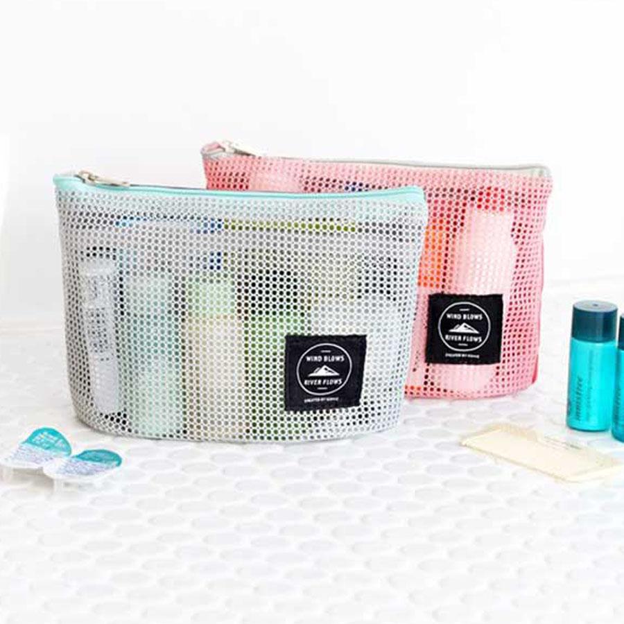 Iconic Mesh Multi Pouch S Travel Toiletry Organizer Makeup Bag Bath