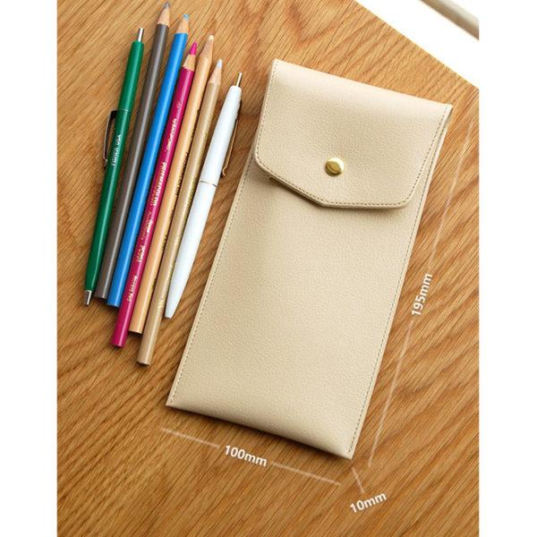 Plepic Extra Pencil Pocket Slim Light Weight Leathery