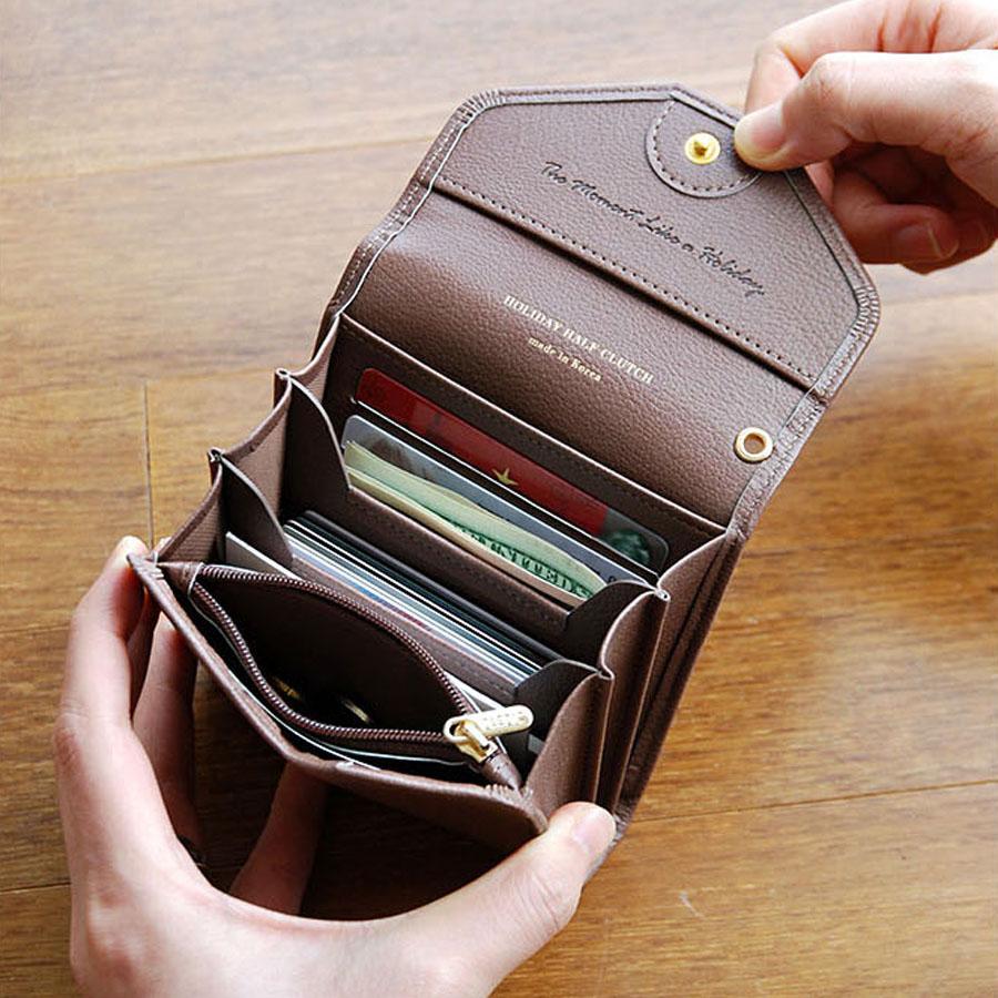 PLEPIC – Holiday Half Clutch – Womens  Mini Bifold Half Size Wallet Card  Holder 0276e066a