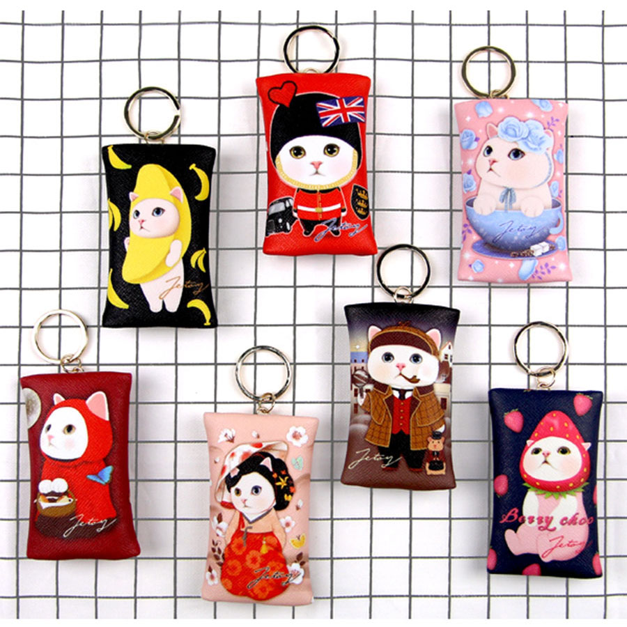 Zipper Coin Purse with Key Ring Keyring